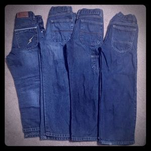 Lot of 4 sz 7 boys blue jeans place old Navy virus